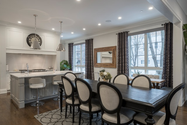 old dining area with modern design