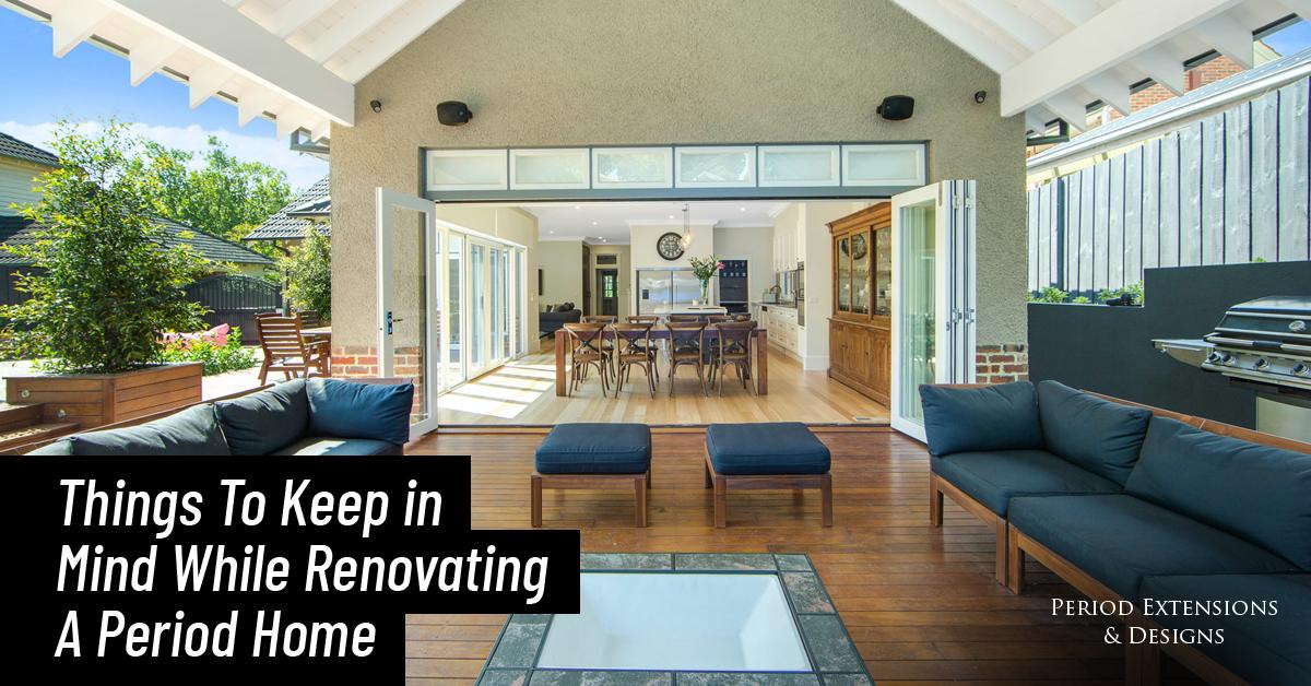 Renovating Period Home Melbourne